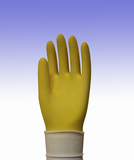 Household gloves Natural Latex Flock-lined Honercomb Grip General