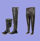 2层橡胶/棉布胸裤和腿裤